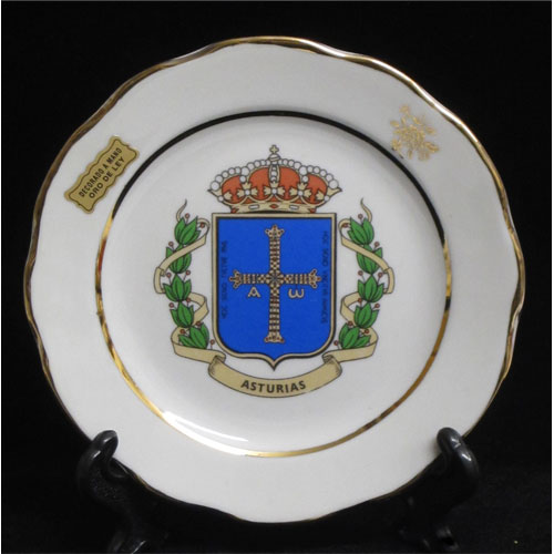 Plato porcelana blanca motivos asturianos for Platos porcelana blanca