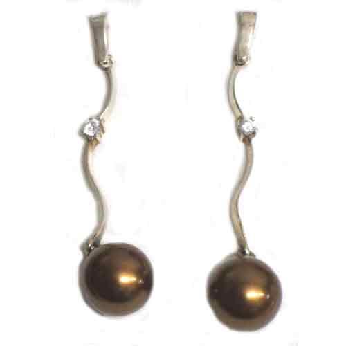 Pendientes plata colgar y piedras naturales con circonitas - Para colgar pendientes ...