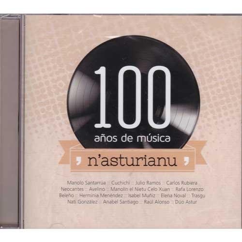 Imagen portada cd 100 años de música n`asturianu