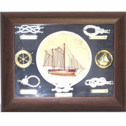 Artesania Asturiana -  Nudos marineros barco marco caoba  - Editorial Picu Urriellu