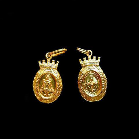 Artesania Asturiana -  Medalla Virgen de Covadonga almena -peso 2.20g.  - Editorial Picu Urriellu