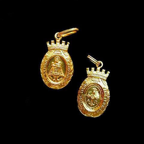 Artesania Asturiana -  Medalla Virgen de Covadonga almena -peso 2.80g.  - Editorial Picu Urriellu