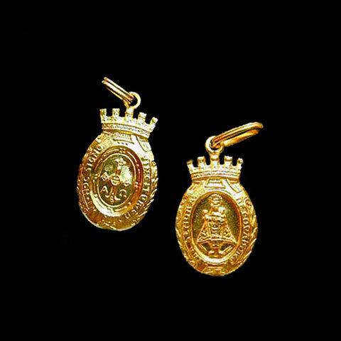 Artesania Asturiana -  Medalla Virgen de Covadonga almena -peso 2.90g.  - Editorial Picu Urriellu