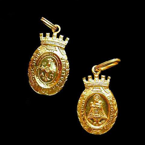 Artesania Asturiana -  Medalla Virgen de Covadonga almena -peso 3.40g.  - Editorial Picu Urriellu
