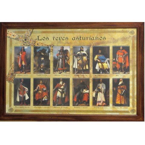 Artesania Asturiana -  Reyes asturianos ( marco ancho ) - Editorial Picu Urriellu