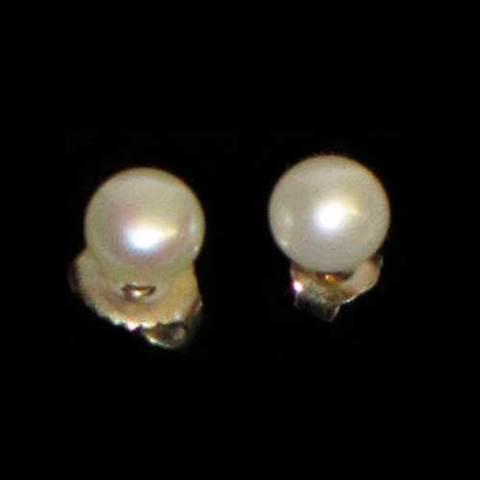 Artesania Asturiana -  Pendientes perla natural pequeño presion - Editorial Picu Urriellu
