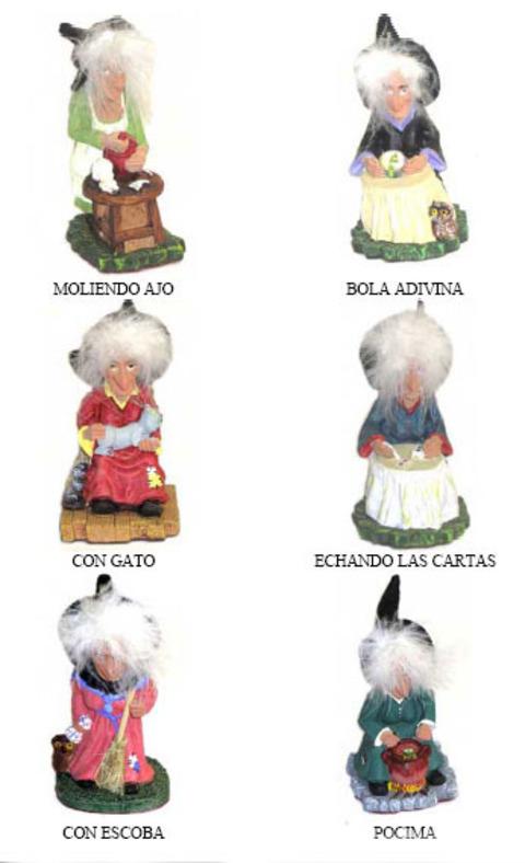 Artesania Asturiana -  Brujas variadas pequeñas pelos - Editorial Picu Urriellu