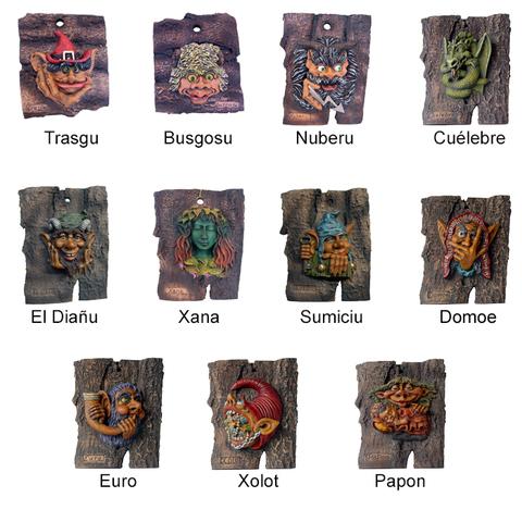 Artesania Asturiana -  Cortezas pequeñas mitologia  - Editorial Picu Urriellu