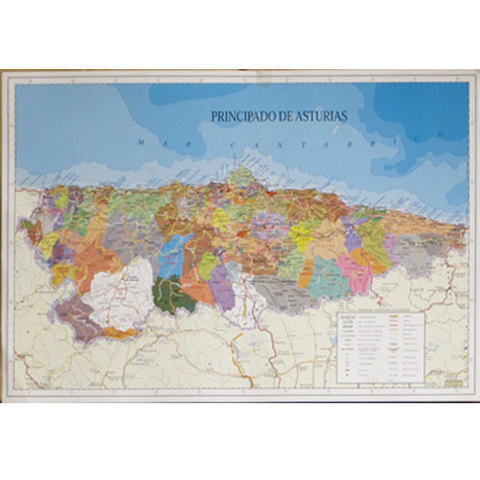 Artesania Asturiana -  Mapa Asturias concejos  - castellano  - Editorial Picu Urriellu