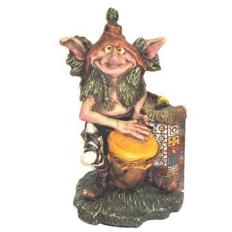 Artesania Asturiana -  Duende tocando el tambor - sujetalibros - Editorial Picu Urriellu
