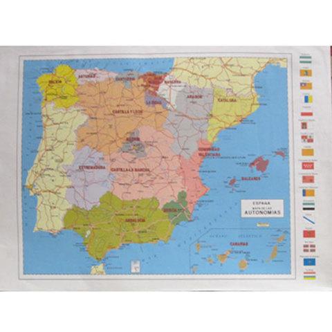 Artesania Asturiana -  Mapa Comunidades de España - Editorial Picu Urriellu