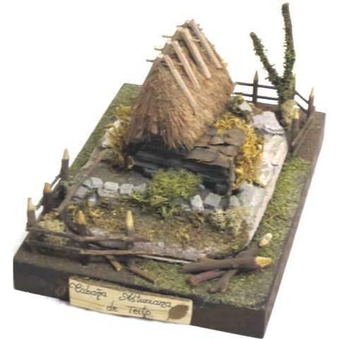 Artesania Asturiana -  Teito piedra - base de madera - mod.5 - Editorial Picu Urriellu