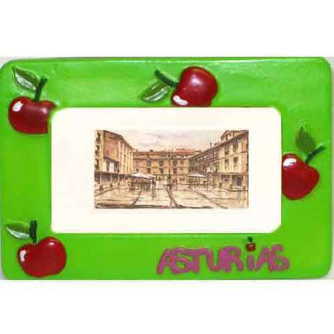 Artesania Asturiana -  Portafotos manzanas pequeño - Editorial Picu Urriellu