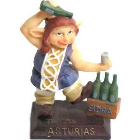 Artesania Asturiana -  Trasgu escanciador  - Editorial Picu Urriellu