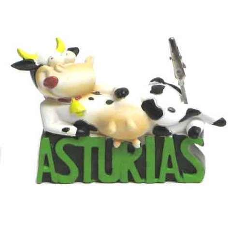 Artesania Asturiana -  Vaca letras asturias y pinza  - Editorial Picu Urriellu