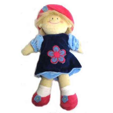 Artesania Asturiana - Muñeca flor infantil -vestido azul - Editorial Picu Urriellu