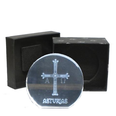 Artesania Asturiana -  Cruz victoria - semicirculo plana grande  - Editorial Picu Urriellu