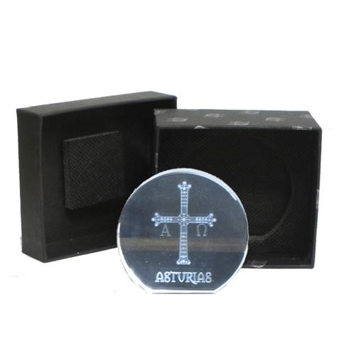 Artesania Asturiana -  Cruz victoria - semicirculo plana pequeña  - Editorial Picu Urriellu