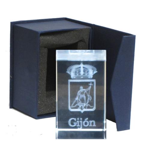 Artesania Asturiana -  Escudo Gijon - cubo rectangular  - Editorial Picu Urriellu