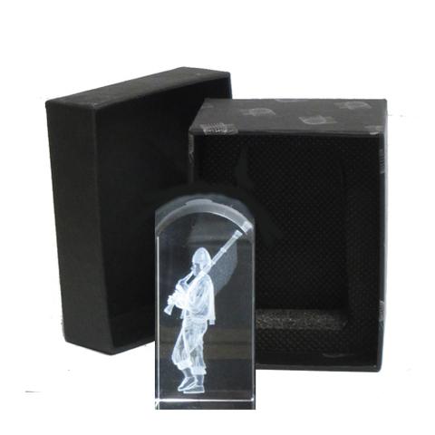 Artesania Asturiana -  Gaitero pequeño - cubo cristal - Editorial Picu Urriellu