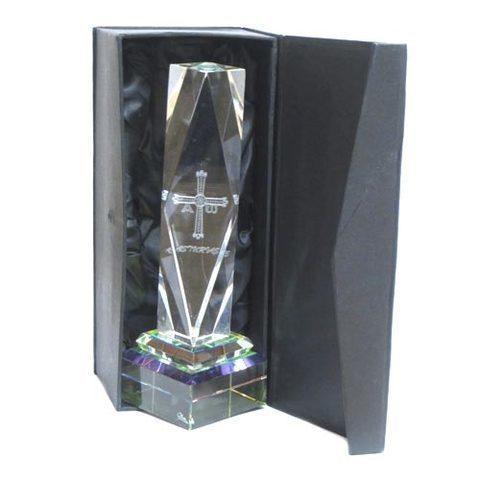 Artesania Asturiana -  Monolito cristal cruz victoria  - Editorial Picu Urriellu