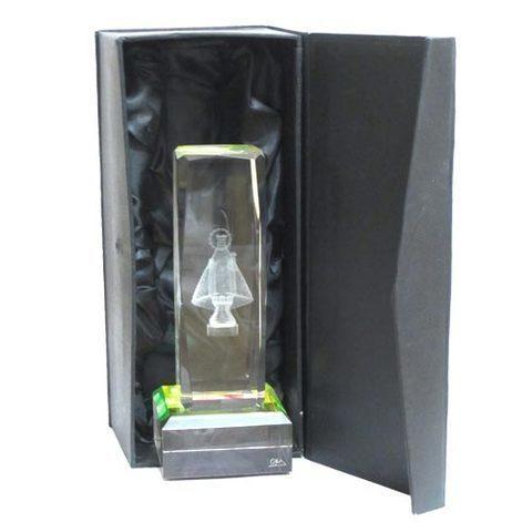 Artesania Asturiana -  Monolito cristal virgen covadonga-cubico  - Editorial Picu Urriellu