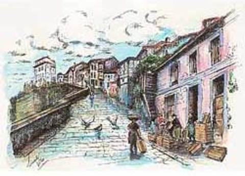 Artesania Asturiana -  Plumillas - acuarela pintada a mano - Editorial Picu Urriellu