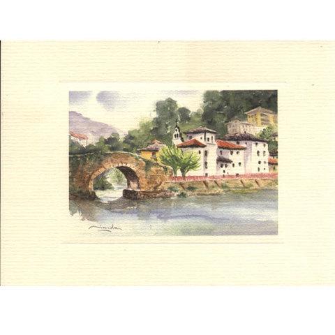 Artesania Asturiana - Acuarelas Asturias - Las tierras del interior - Editorial Picu Urriellu