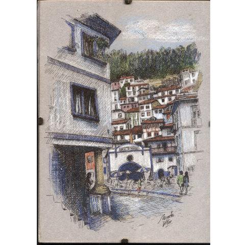 Artesania Asturiana - Cudillero rula - cristal con grapas - Editorial Picu Urriellu