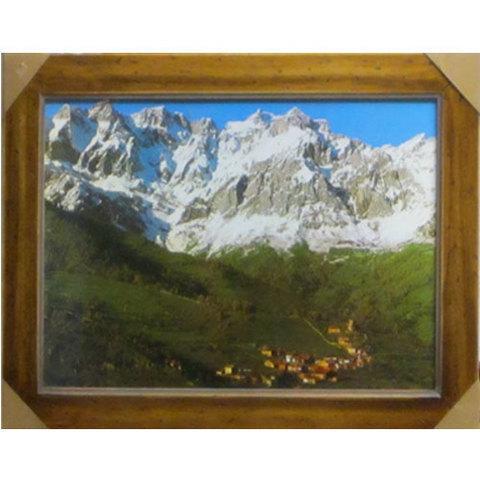 Artesania Asturiana - Picos de Europa fotoposter pequeño ( marco madera) - Editorial Picu Urriellu