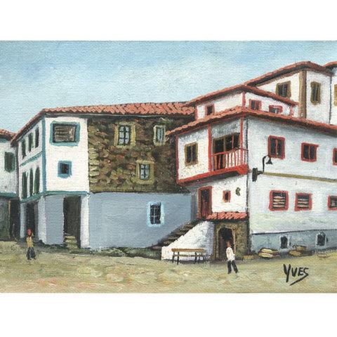 Artesania Asturiana - Oleos originales Cudillero pequeños - Ives - Editorial Picu Urriellu