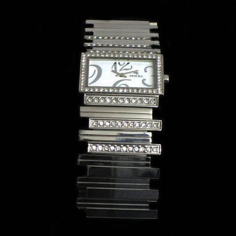 Artesania Asturiana - Reloj con circonitas -pulsera acero - Editorial Picu Urriellu