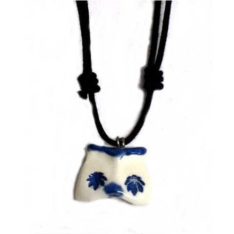 Artesania Asturiana - Colgante con cordon ceramica buho diseño - artesanal - Editorial Picu Urriellu
