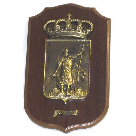 Artesania Asturiana - Metopa escudo Gijon grande - Editorial Picu Urriellu
