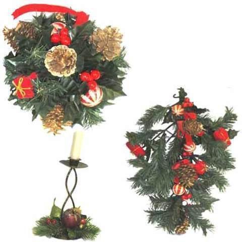 Artesania Asturiana - Decoración de navidad - pino con motivos color - Editorial Picu Urriellu