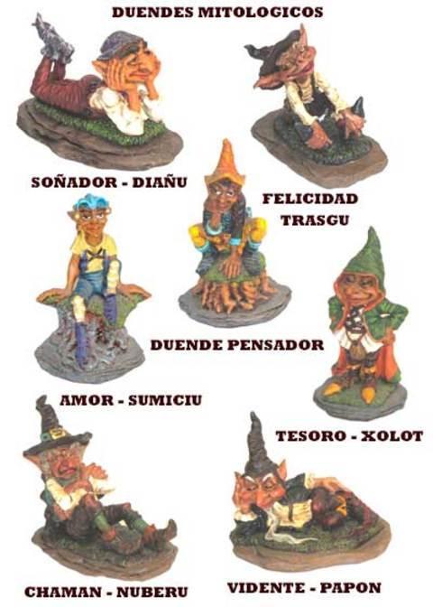 Artesania Asturiana - Duendes mitologia asturiana pequeños - Editorial Picu Urriellu