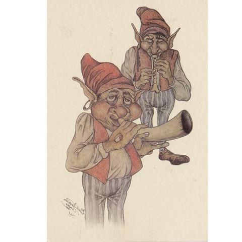 Artesania Asturiana - Tarjetas mitologia - instrumentos musicales - Editorial Picu Urriellu