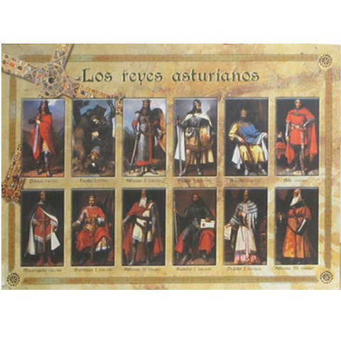 Artesania Asturiana - Poster de los Reyes asturianos - Editorial Picu Urriellu