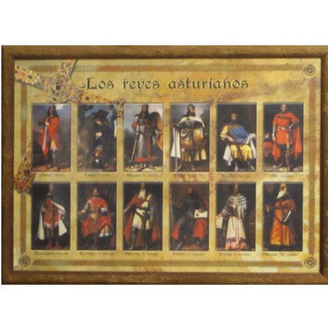 Artesania Asturiana - Cuadro de los reyes asturianos - Editorial Picu Urriellu