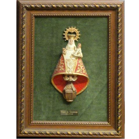 Artesania Asturiana - Cuadro Virgen de Covadonga - relieve - Editorial Picu Urriellu