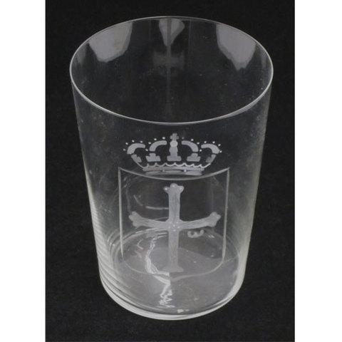 Artesania Asturiana - Vasos sidra tallados - escudo de Asturias - Editorial Picu Urriellu