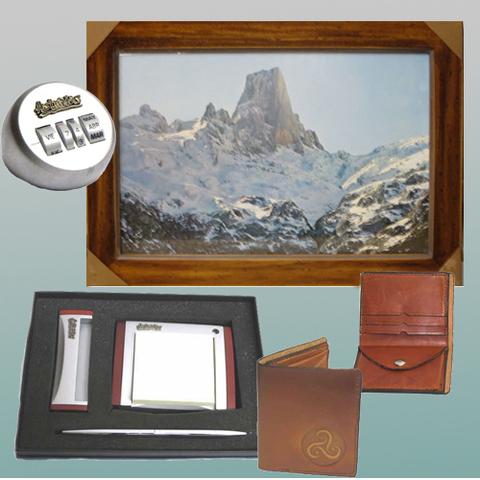 Artesania Asturiana - Cuadro fotoposter, Calendario, Juego escritorio y Cartera piel - Editorial Picu Urriellu