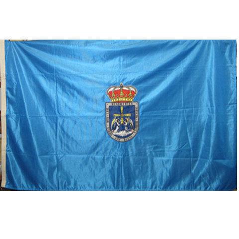 Artesania Asturiana - Bandera oficial Oviedo ( escudo bordado ) - Editorial Picu Urriellu