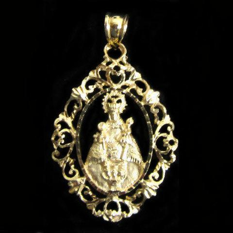 Artesania Asturiana - Medalla oro Virgen de Covadonga orla - Editorial Picu Urriellu