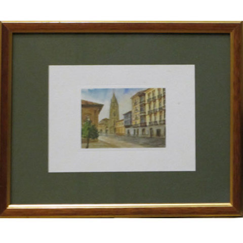 Artesania Asturiana - Acuarela Catedral de Oviedo - Editorial Picu Urriellu