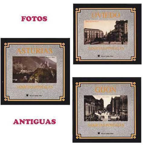 Artesania Asturiana - Paquete 3 libros de fotos antiguas Asturias, Oviedo y Gijón - Editorial Picu Urriellu