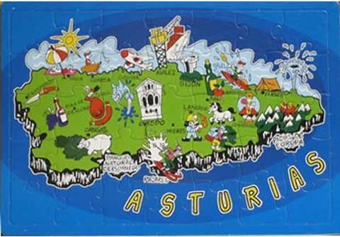 Artesania Asturiana - Puzzle mapa de Asturias - Editorial Picu Urriellu
