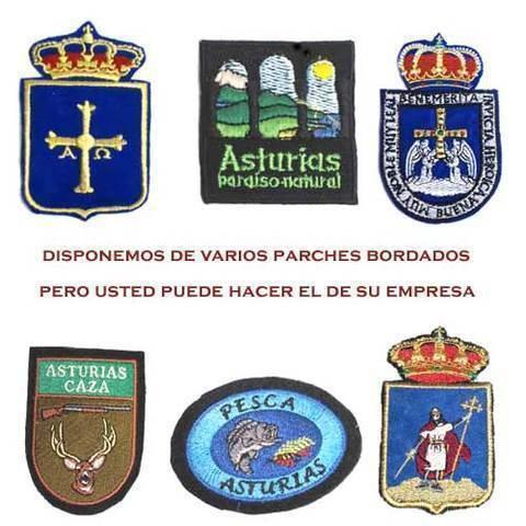 Artesania Asturiana - Parches de tela bordados ( varios modelos ) - Editorial Picu Urriellu