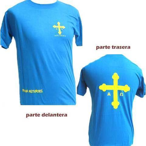 Artesania Asturiana - Camiseta Cruz de la victoria - Adulto y niños - Editorial Picu Urriellu