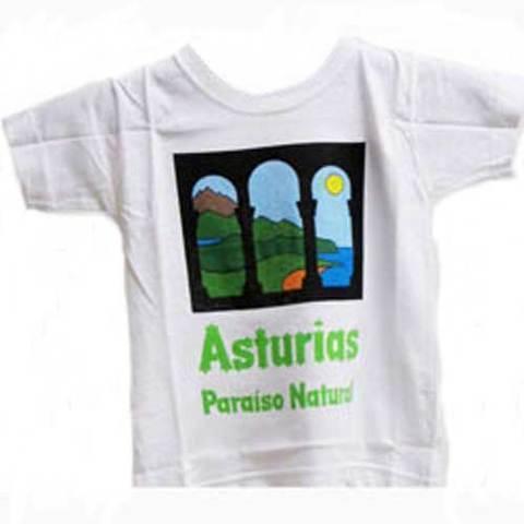Artesania Asturiana - Camiseta paraiso natural - Adulto y niños - Editorial Picu Urriellu